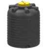 Емкость цилиндрическая вертикальная 3000 литров (черная)