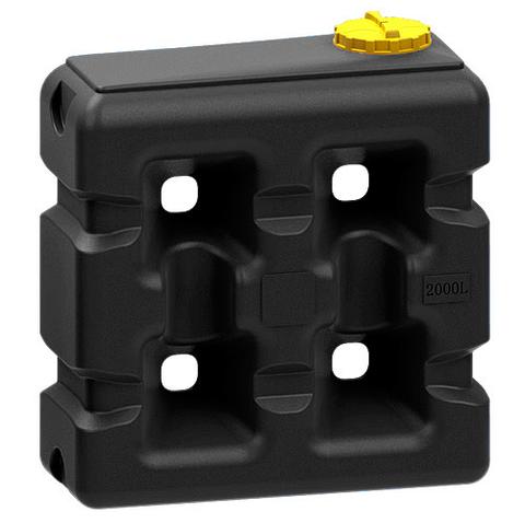 Емкость прямоугольная 2000 литров (черная)